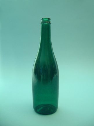 champagne bottle color green, H x B 29 x ø 8,5 cm.