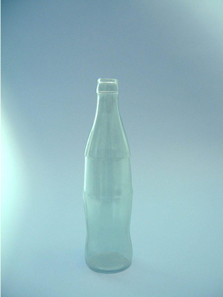 Cola-Automatenflesje, blank, 25 cm hoog x diameter ø 6,5cm.