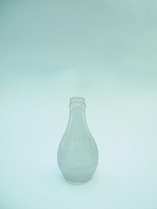 Orangina bottle made of sugar glass, clear, 16 cm x ø8 cm