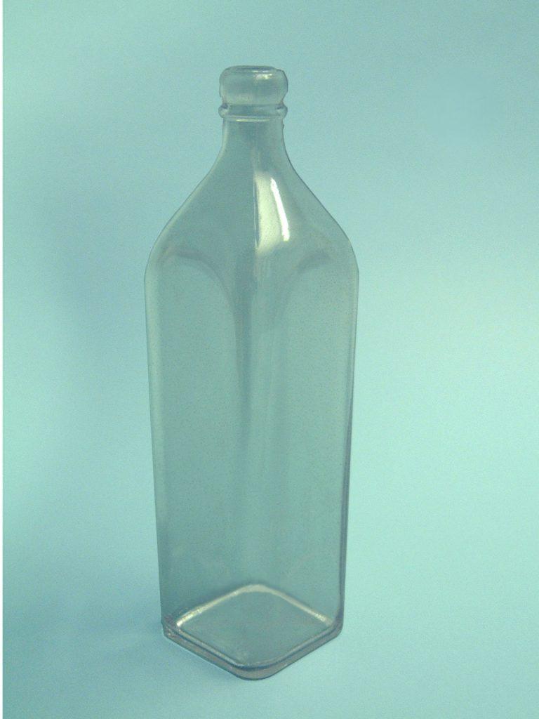 """Whiskyfles """"Johnnie Walker"""", blank suikerglas,HxB: 28 cm x ø 9,5 cm."""