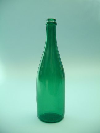 Sugar glass Sekt bottle, green, 30 x ø 8 cm.