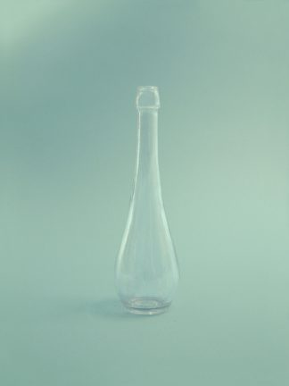 Sugar glass Schnaps bottle 200ml, clear 18 x ø 5.5cm.