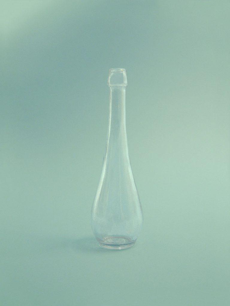 Suikerglazen Schnapsflesje 200ml, blank 18 x ø 5,5cm.