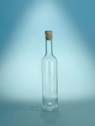 Sugar glass transparent Schnaps bottle 500ml. 29.8 x ø 6.1 cm.