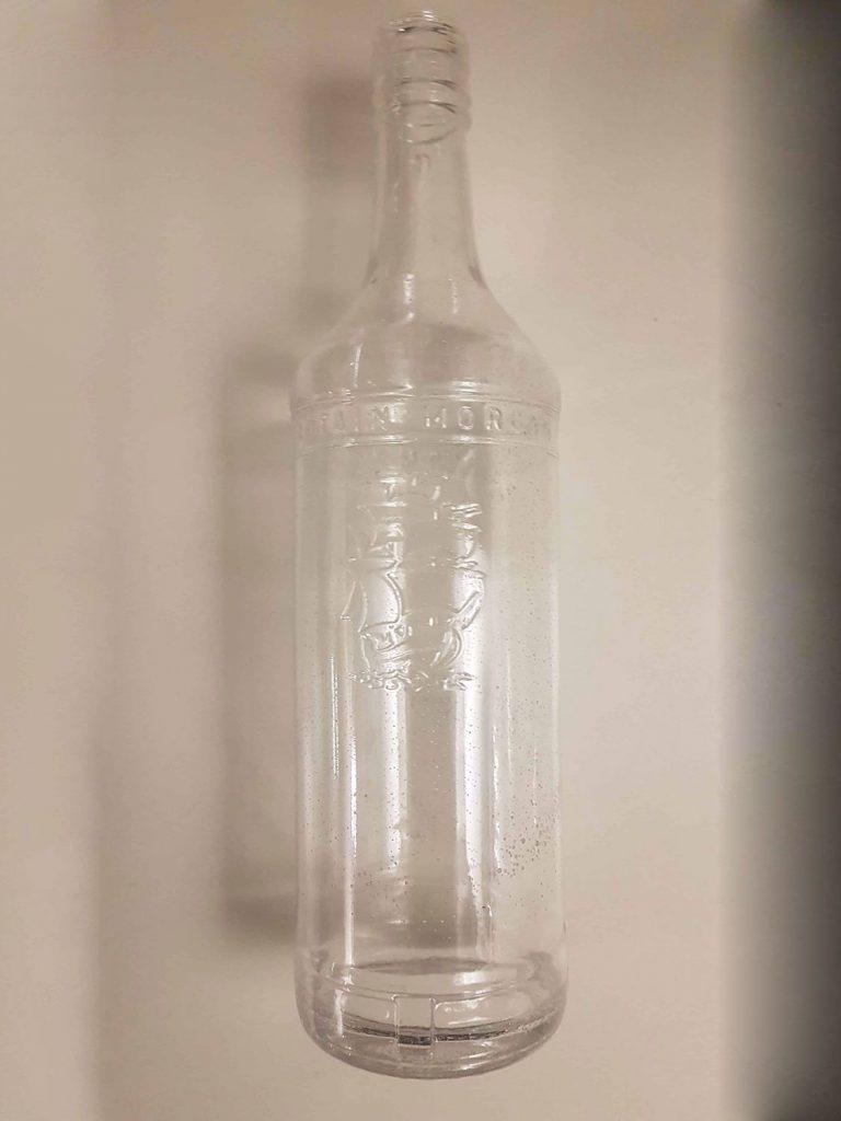 Suikerglas Rumfles Captain Morgan. 0,7 liter doorzichtig suikerglas.