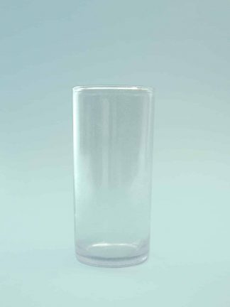 Sugar glass Juice glass - Long drink glass, transparent 14 x 6.5 cm.