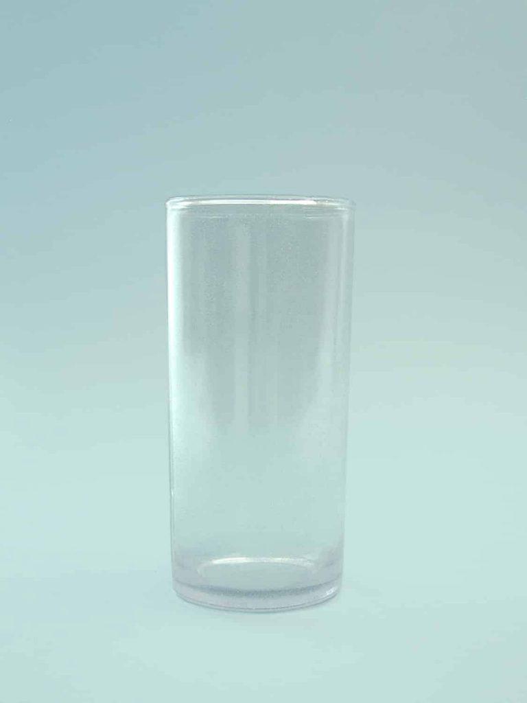 Sugar glass Juice glass - Long drink glass, transparent 14 x 6.5 cm.