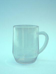 Tea mug, wine glass, tea glass made of sugar glass. 10.5 x 7.5 cm.