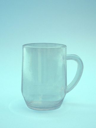 Tea mug tea cup, tea glass made of sugar glass. 10.5 x 7.5 cm.