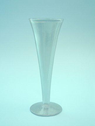 Suikerglazen Sektfluitje of cham[pagnefluitje 20 x 7 cm.