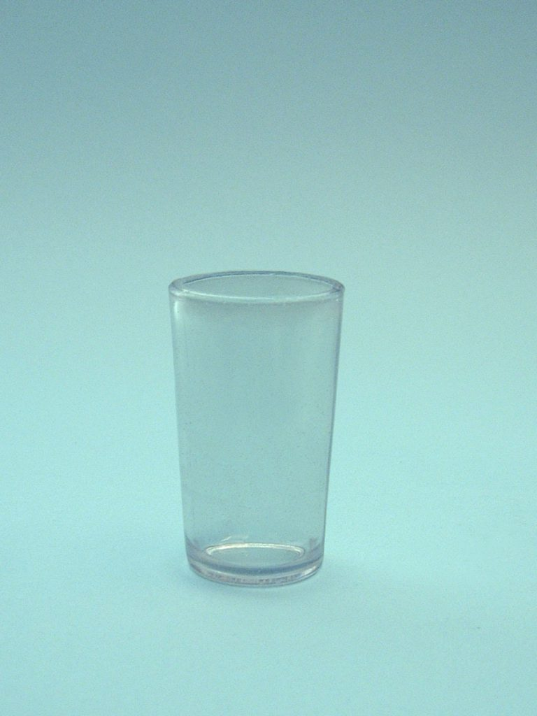 Schnapps glass or gin glass shot-sugar glass 7.7 x 4.8 cm.
