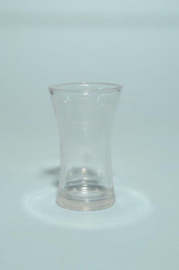 Jeneverglas / shotglaasje van suikerglas.