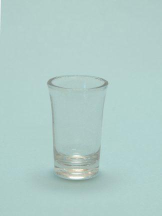 Suikerglas Jeneverglaasje 8,5 x 5,2 cm.