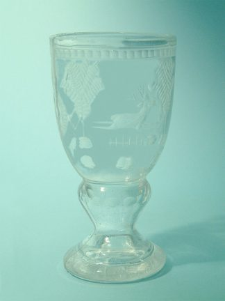 Sugar glass - safety glass - Wine chalice shepherd motif 15,5 x 8 cm.