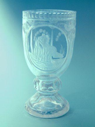 Suikerglaszen Wijnkelk Paardenmotief,17 x 8,5 cm