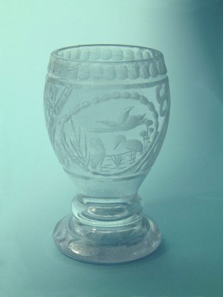 Wine chalice with a fish motif, sugar glass, 17 x 8.5 cm