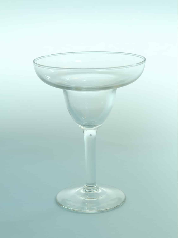 Champagneschaal, doorzichtig suikerglas, H*B=15 x 11,2 cm.
