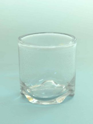 Beautiful whiskey glass with corrugated bottom, sugar glass! L * W 9x9 Cm