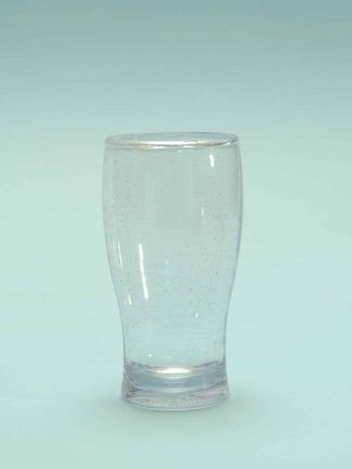 Guinness Beer glass made of sugar glass, transparent, 16 x 8,5 cm.