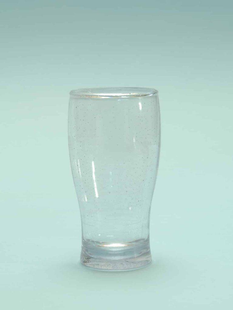 Guinness Beer glass made of sugar glass, transparent, 16 x 8,5 cm.