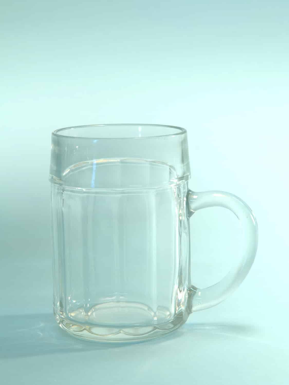 Suikerglas Bierpul 0,5 Liter inhoud. Kartel motief. H*B is: 13,5 x 9,3 cm