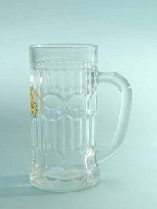 Beer mug made of film glass, Cartel model. 0.5 liters. HxW: 17.2 x 8.3 cm.