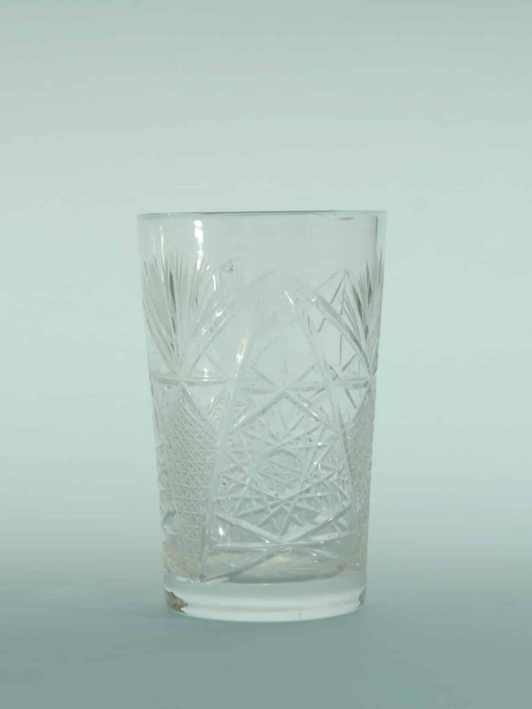 For your video shoot. Breakaway Sugar glass whiskey / water glass. 11 x 7 cm.