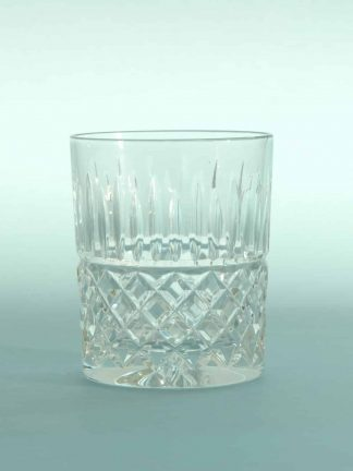 Stunt glass breakaway Whiskey glass, Crystal cut. H * W 10 x 8.2 cm.