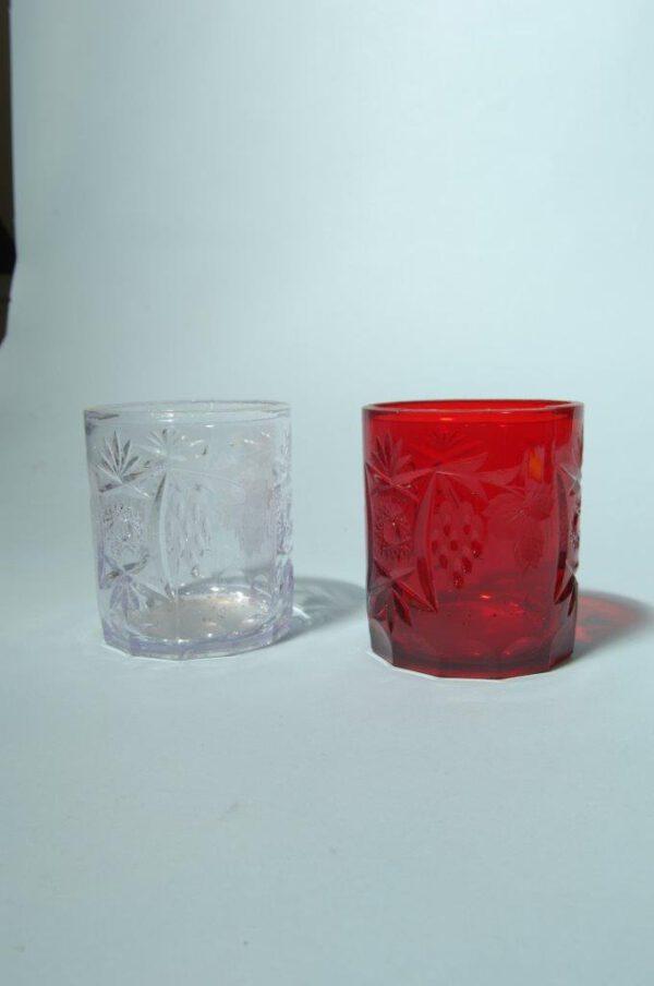 Whiskyglazen van suikerglas in diverse kleuren!