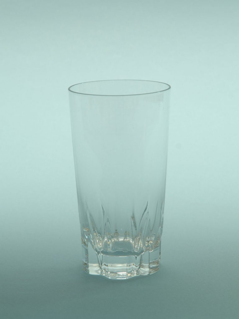 Sugar glass Juice glass Long drink glass / white beer 0.5 liter with star bottom, H * W is 13.6 x 7.5 cm.