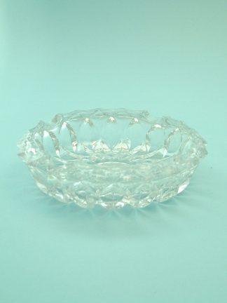 Asbak van suikerglas. 3.8 X 14 centimeter