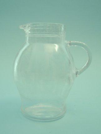 Lampet / waterkan van suikerglas. 0300-Waterkan 1 Liter, 19 cm x ø 16,5 cm.