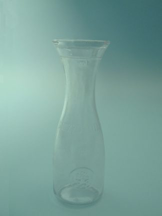 For video or film. Sugar Glass Italian Carafe. Size: 0.5 liters, 23 x ø 8 cm.