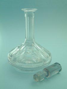 Filmglas / suikerglas Port/ wijn karaf, 19,5 (28)cm x ø 15,5 cm.
