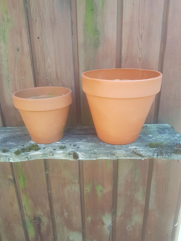 Film flower pot. Fake glass / sugar glass. Flowerpot medium, 10.5 cm x ø 12 cm.