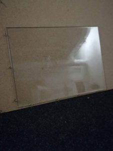 Sugar glass pane or window for TV, film and video. Sugar glass squares 33 x 45 cm.