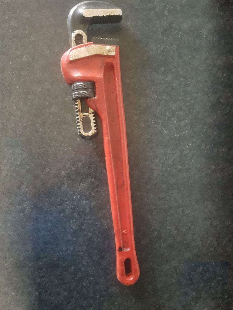Latex pipe wrench for Film, TV or video. 45 Cm. long