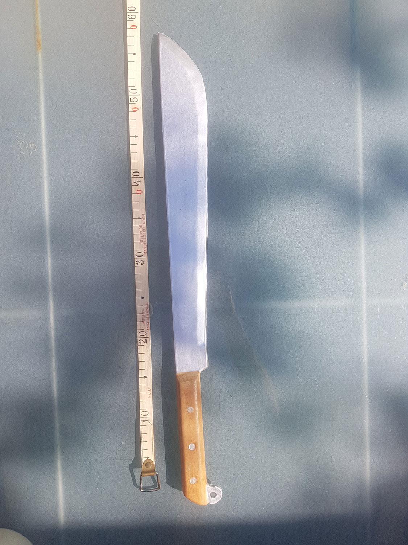 Latex knife. Klewang / cleaver / machete. Length 58 cm.