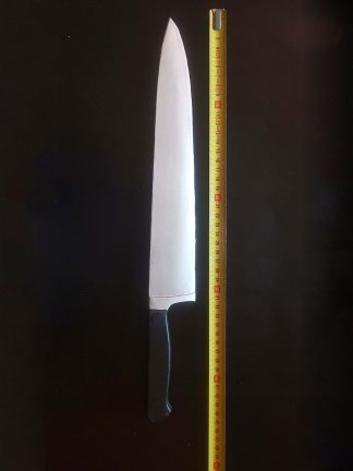 Movie prop. Kitchen knife film prop. Latex, Length 43 centimeters.