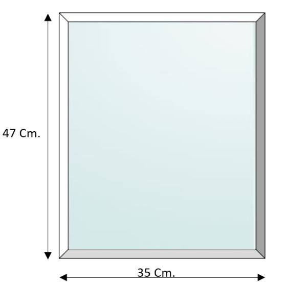 Frame balsahout tbv ruit 33 x 45 Cm