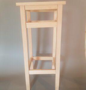 Barkruk (IKEA-Model) gemaakt van balsahout