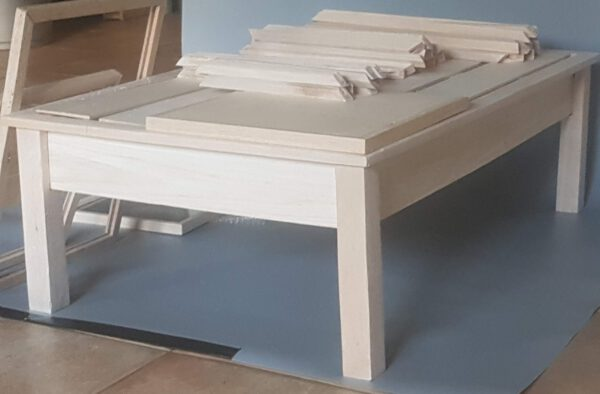 Coffee table - low table made of balsa wood