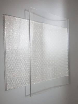 Window made of sugar glass