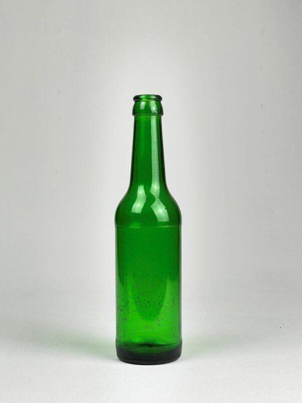 Groen Becks bierflesje van suikerglas.