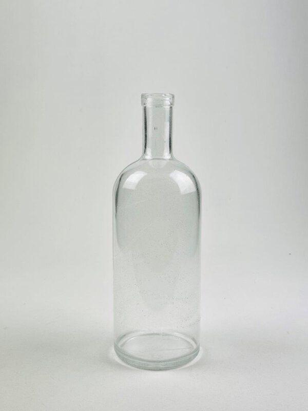 Doorzichtige suikerglas fles.