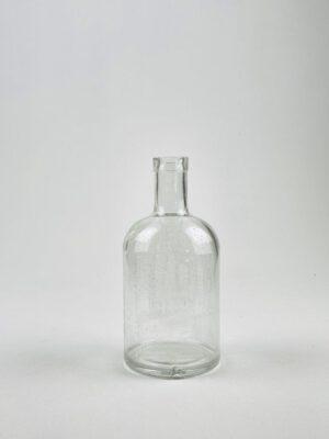 Merkloze drankfles van suikerglas.