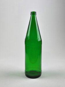 Suikerglas fles, mineraalwaterfles. Kleur is GROEN / Bruin of transparant.