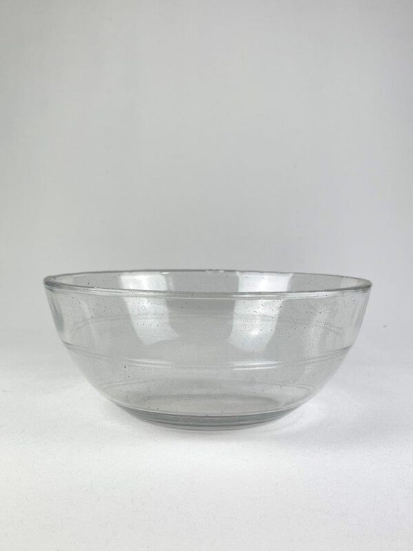 Transparant suikerglas glazenschaal.